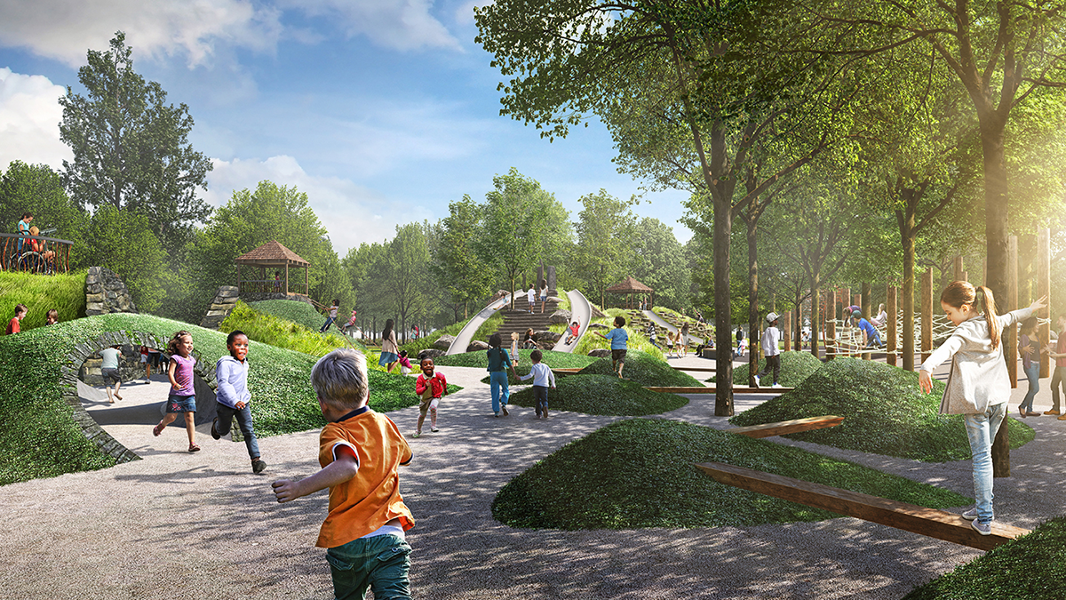 Unity Park rendering of destination play area