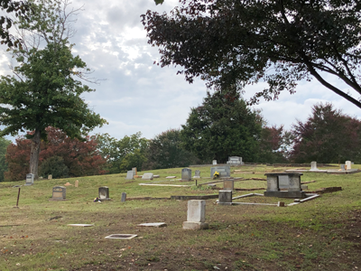 View of Richland Cemetery gravesites