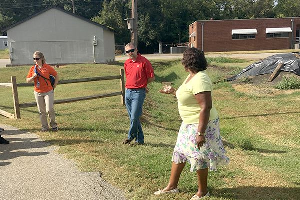 Rosa Byrd shared the history of Mayberry Park, a brownfield in the city.